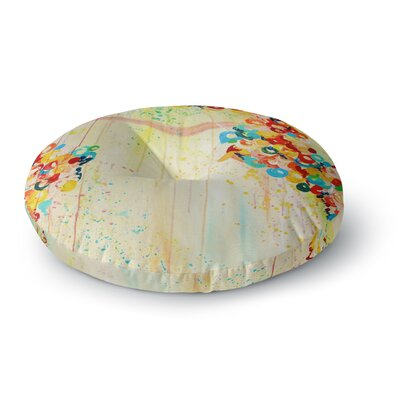 Ebi Emporium Summer in Bloom Round Floor Pillow Size: 26 x 26