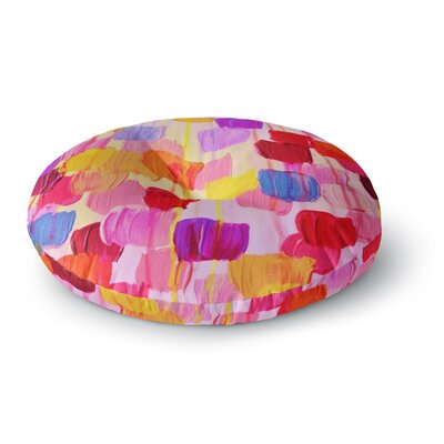 Ebi Emporium Dotty Round Floor Pillow Size: 23 x 23