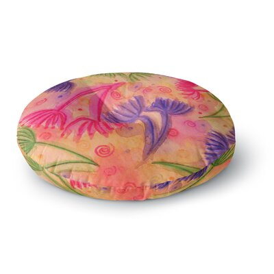 Ebi Emporium Cow Parsley Round Floor Pillow Size: 26 x 26