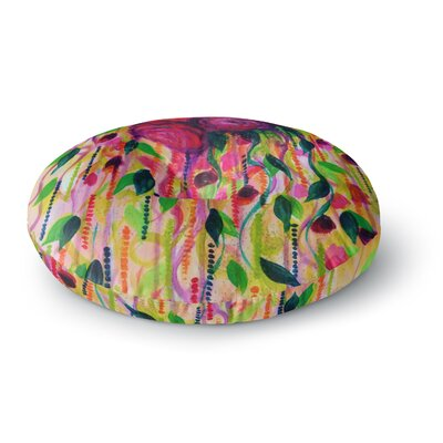 Ebi Emporium Roses are Round Floor Pillow Size: 23 x 23