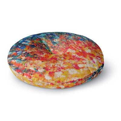 Ebi Emporium the Clash Round Floor Pillow Size: 23 x 23