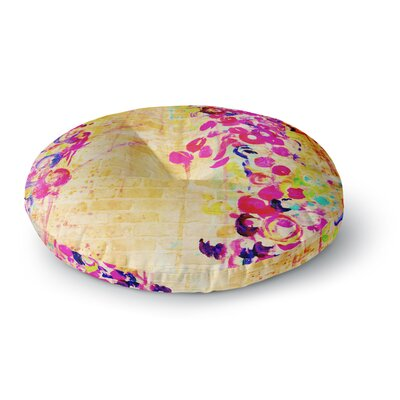 Ebi Emporium Wall Flowers Round Floor Pillow Size: 23 x 23