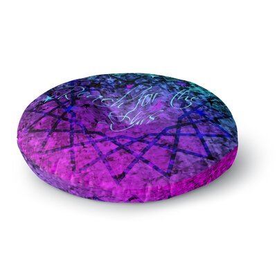 Ebi Emporium Reach for the Stars Round Floor Pillow Size: 26 x 26
