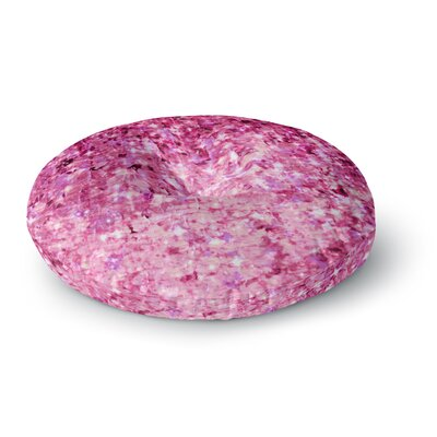 Ebi Emporium Romance Me at Midnight Round Floor Pillow Size: 26 x 26, Color: Pink