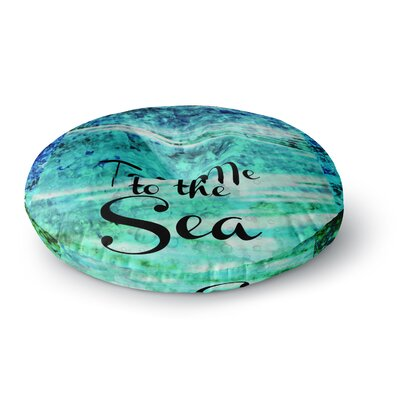 Ebi Emporium Take Me to the Sea Glitter Round Floor Pillow Size: 26 x 26