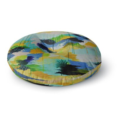 Ebi Emporium Journey to Paradise Round Floor Pillow Size: 23 x 23