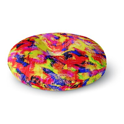 Ebi Emporium the Flock Round Floor Pillow Size: 23 x 23