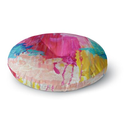 Ebi Emporium Elated Paint Round Floor Pillow Size: 23 x 23