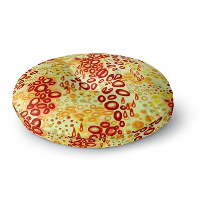 Ebi Emporium Circular Persuasian Round Floor Pillow Size: 23 x 23, Color: Yellow