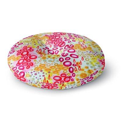 Ebi Emporium Circular Persuasion Turquoise Round Floor Pillow Size: 23 x 23, Color: Magenta