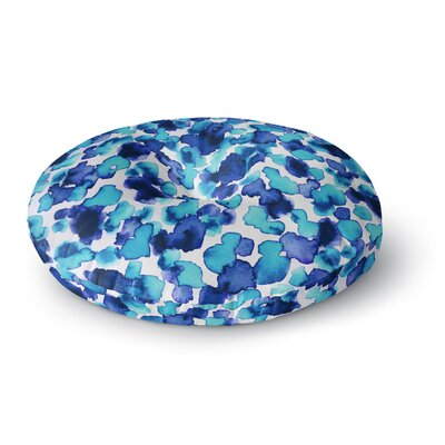 Ebi Emporium Giraffe Spots Round Floor Pillow Size: 23 x 23, Color: Blue