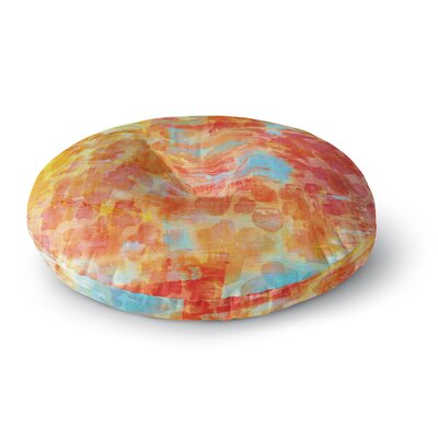 Ebi Emporium Jungle Round Floor Pillow Size: 26 x 26, Color: Orange/Red