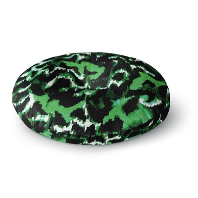 Ebi Emporium Wild at Heart Round Floor Pillow Size: 26 x 26, Color: Emerald