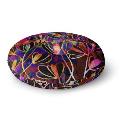 Ebi Emporium Efflorescence Round Floor Pillow Size: 26 x 26, Color: Pink/Rainbow