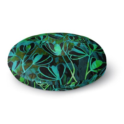 Ebi Emporium Efflorescence Round Floor Pillow Size: 23 x 23, Color: Lime Green