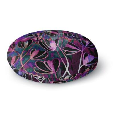 Ebi Emporium Efflorescence Round Floor Pillow Size: 23 x 23, Color: Magenta/Lavender