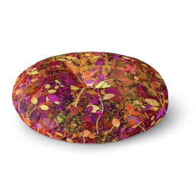 Ebi Emporium Amongst the Flowers Warm Sunset Round Floor Pillow Size: 23 x 23
