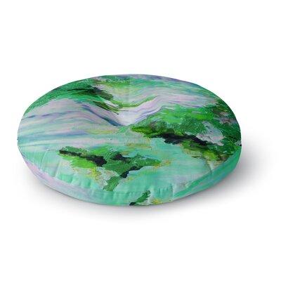 Ebi Emporium on Cloud Nine 3 Round Floor Pillow Size: 23 x 23, Color: Green/Blue