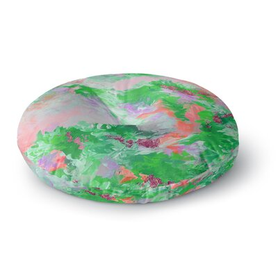 Ebi Emporium When We Were Mermaids 15 Watercolor Round Floor Pillow Size: 26 x 26, Color: Green/Pink