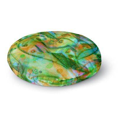 Ebi Emporium Flourish Floral Round Floor Pillow Size: 26 x 26, Color: Emerald