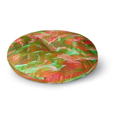 Ebi Emporium Motley Flow 5 Round Floor Pillow Size: 23 x 23, Color: Green/Red