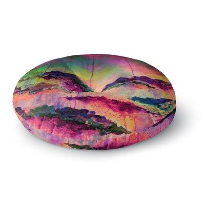 Ebi Emporium Its A Rose Colored Life 4 Round Floor Pillow Size: 26 x 26, Color: Magenta/Orange