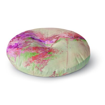 Ebi Emporium When Land Met Sky 4 Round Floor Pillow Size: 23 x 23, Color: Pink/Green