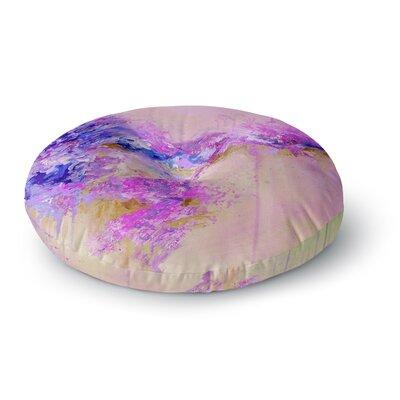 Ebi Emporium When Land Met Sky 4 Round Floor Pillow Size: 23 x 23, Color: Purple/Pink