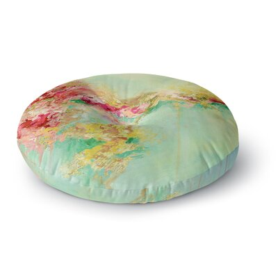Ebi Emporium When Land Met Sky 4 Round Floor Pillow Size: 26 x 26, Color: Red/Green