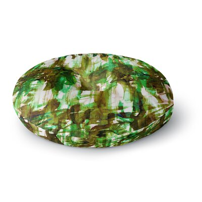 Ebi Emporium Noise 4 Round Floor Pillow Size: 23 x 23, Color: Green/Olive