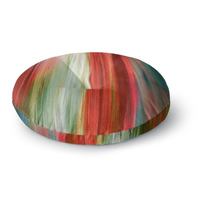Ebi Emporium Irradiated Multi 1 Round Floor Pillow Size: 26 x 26, Color: Red/Olive
