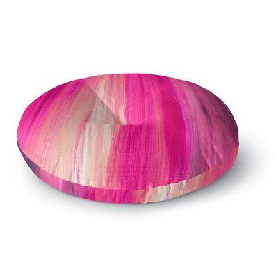 Ebi Emporium Irradiated Multi 1 Round Floor Pillow Size: 26 x 26, Color: Magenta/Pink