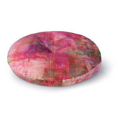 Ebi Emporium into the Tropics Love Round Floor Pillow Size: 23 x 23, Color: Coral