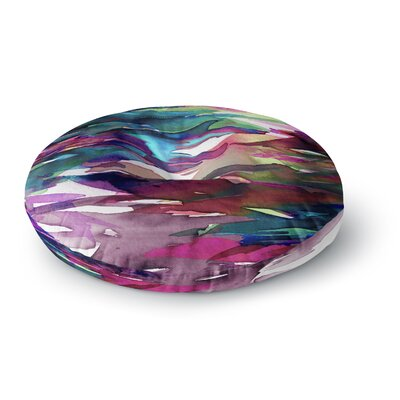 Ebi Emporium Fervor 7 Watercolor Round Floor Pillow Size: 26 x 26, Color: Purple/Lavender