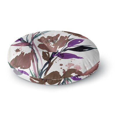 Ebi Emporium Pocket Full of Posies 11 Nature Round Floor Pillow Size: 23 x 23, Color: Beige/White
