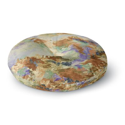 Ebi Emporium When We Were Mermaids 15 Watercolor Round Floor Pillow Size: 23 x 23, Color: Lavender/Tan