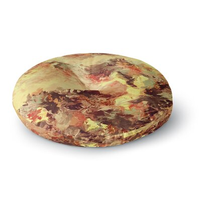 Ebi Emporium When We Were Mermaids 15 Watercolor Round Floor Pillow Size: 23 x 23, Color: Yellow/Tan