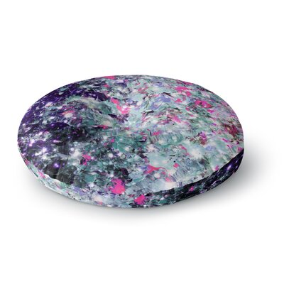 Ebi Emporium in Perpetuity Painting Round Floor Pillow Size: 26 x 26, Color: Lavender