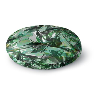 Ebi Emporium Floral Fiesta Round Floor Pillow Size: 23 x 23, Color: Green