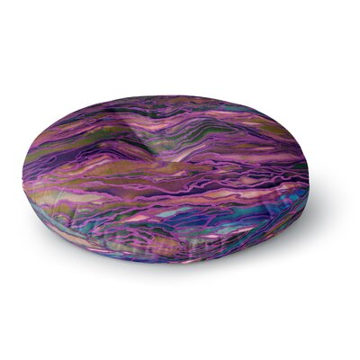 Ebi Emporium Marble Idea! Geological Round Floor Pillow Size: 23 x 23, Color: Purple