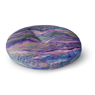 Ebi Emporium Marble Idea! Geological Round Floor Pillow Size: 23 x 23, Color: Pink/Black
