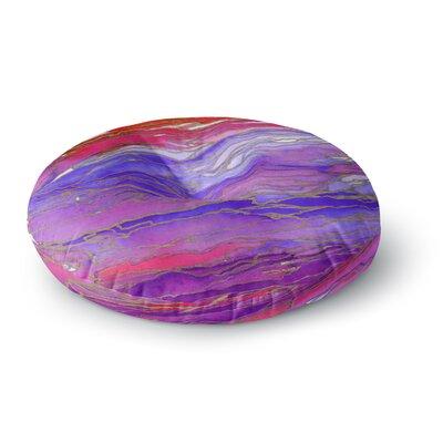 Ebi Emporium Agate Magic Round Floor Pillow Size: 26 x 26, Color: Aqua/Purple
