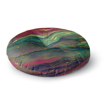 Ebi Emporium Agate Magic Round Floor Pillow Size: 26 x 26, Color: Green/Maroon