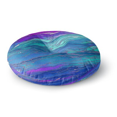 Ebi Emporium Agate Magic Round Floor Pillow Size: 26 x 26, Color: Blue/Lavender