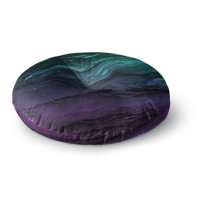 Ebi Emporium Agate Magic Round Floor Pillow Size: 26 x 26, Color: Deep Purple