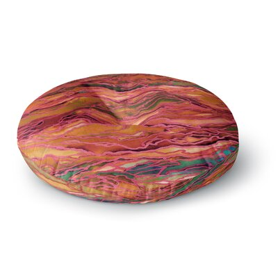 Ebi Emporium Marble Idea! Geological Round Floor Pillow Size: 26 x 26, Color: Orange/Red
