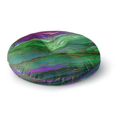 Ebi Emporium Agate Magic Round Floor Pillow Size: 26 x 26, Color: Green/Lavender