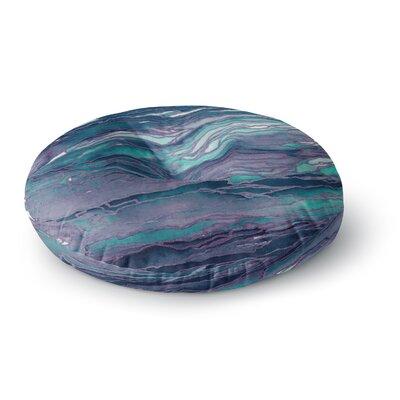 Ebi Emporium Agate Magic Round Floor Pillow Size: 26 x 26, Color: Aqua/Lavender