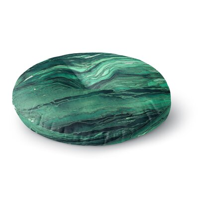 Ebi Emporium Agate Magic Round Floor Pillow Size: 23 x 23, Color: Teal/Green