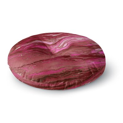 Ebi Emporium Agate Magic Round Floor Pillow Size: 26 x 26, Color: Purple